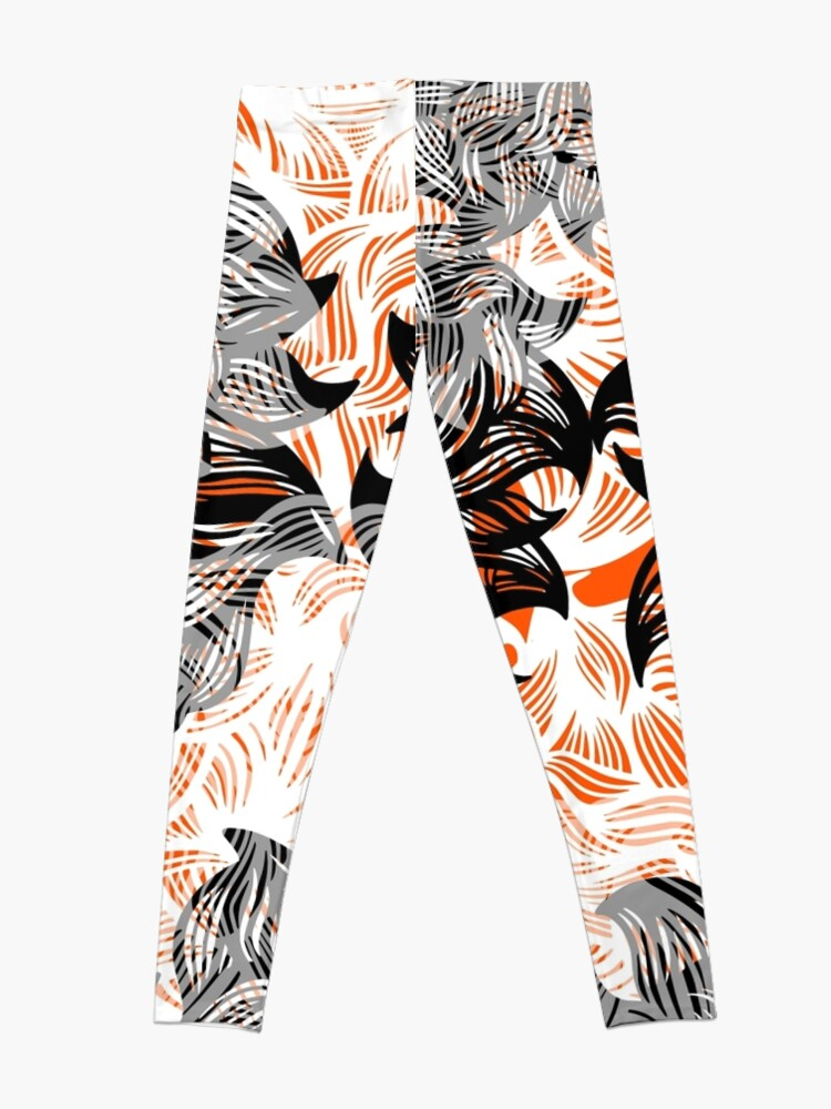 Alternate view of floral abstraction Leggings