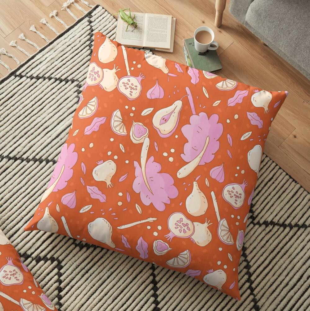 Autumn Vegetables Floor Pillow