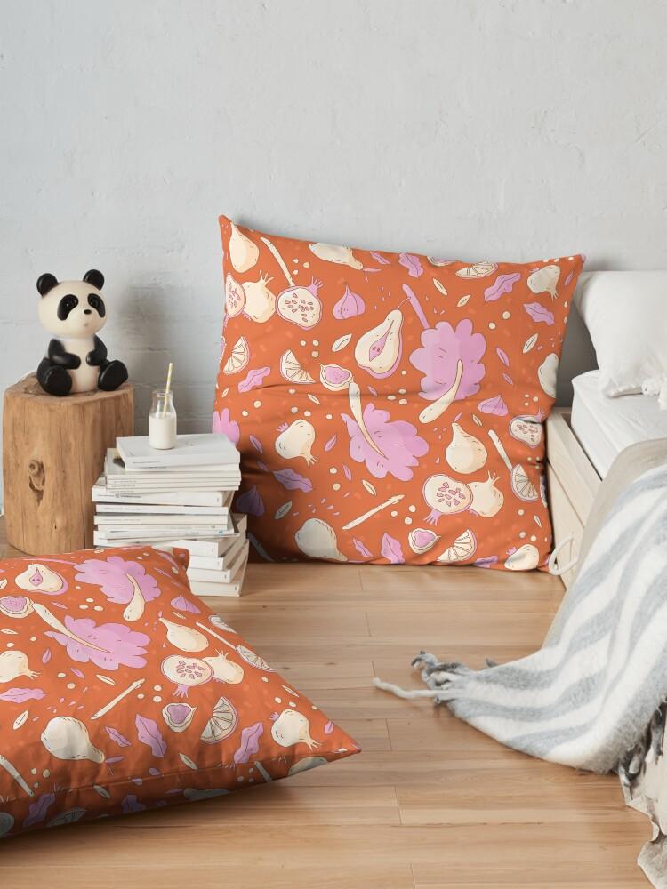 Alternate view of Autumn Vegetables Floor Pillow
