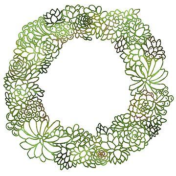Succulent Wreath Two by JenniferCharlee