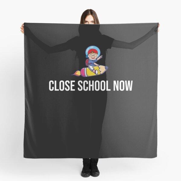 Close school now rocket kid Scarf