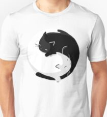 Yin Yang Katzen - Version 2 Unisex T-Shirt