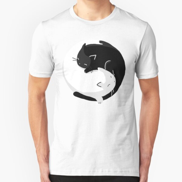 Yin Yang Cats - version 2 Slim Fit T-Shirt