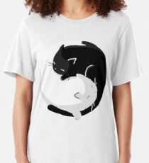 Yin Yang Cats - version 2 Slim Fit T-Shirt