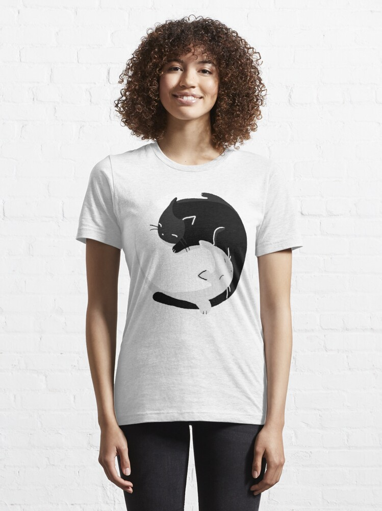 Alternate view of Yin Yang Cats - version 2 Essential T-Shirt
