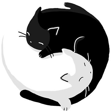Yin Yang Cats - version 2 by Supreto