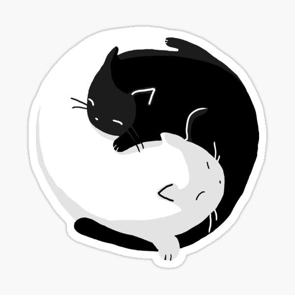 Yin Yang Cats - version 2 Sticker