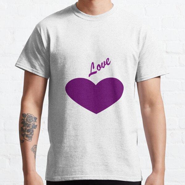 Purple heart saying Love Classic T-Shirt