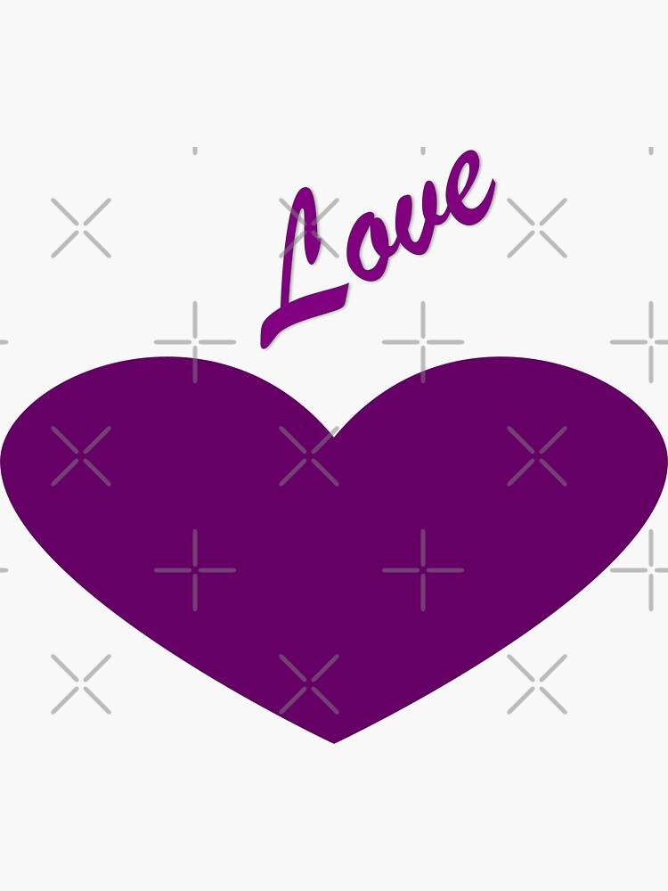 Purple heart saying Love by Veee8