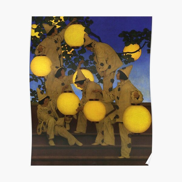 The Lantern Bearers, by Maxfield Parrish Poster