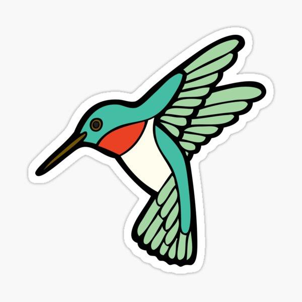 Hummingbird Pattern  Sticker