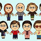 THAT 70'S SHOW - MAIN CHARACTERS CHIBI - MANGA 70'S SHOW by ptelling