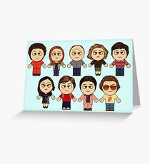 THAT 70'S SHOW - MAIN CHARACTERS CHIBI - MANGA 70'S SHOW Greeting Card