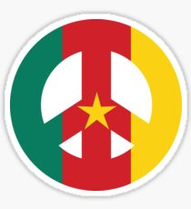 Cameroon Peace Symbol Sticker