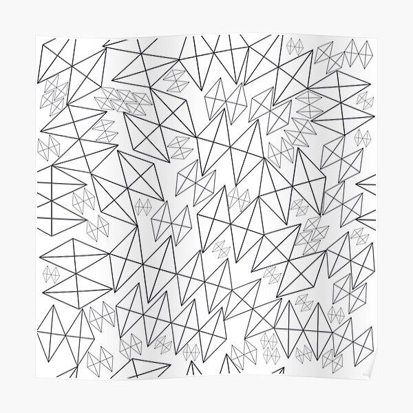Mid-Century Modern Art   Abstract Diamonds 1.1 Poster