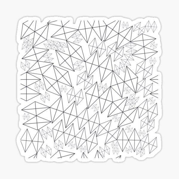 Mid-Century Modern Art | Abstract Diamonds 1.1 Sticker