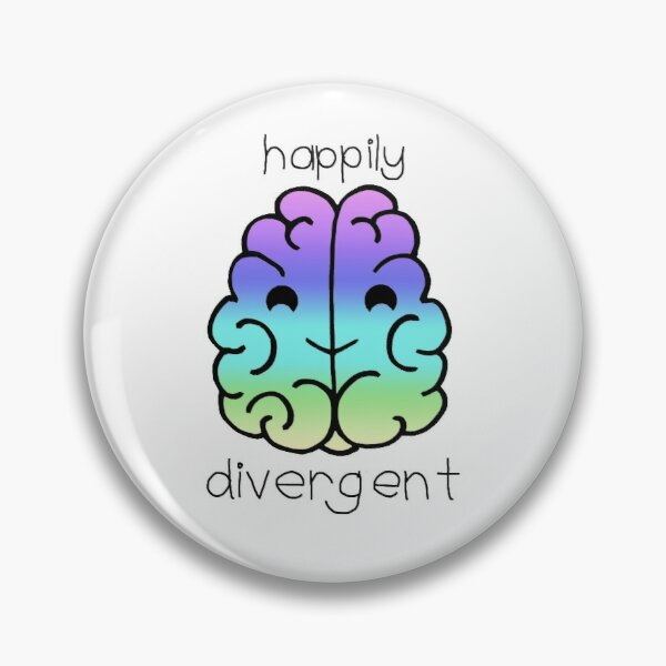 Happily Divergent Pin