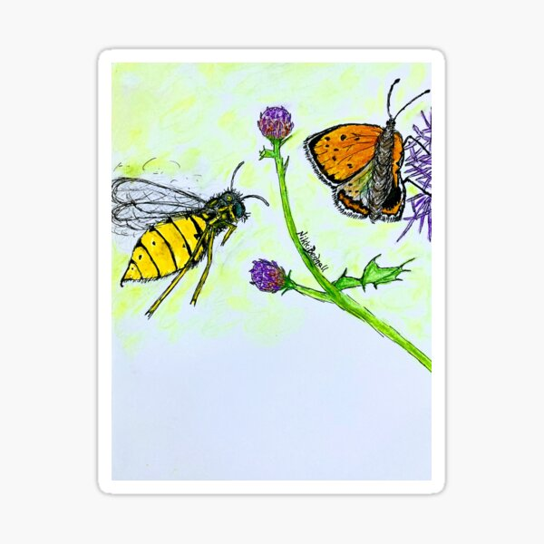 Butterfly Wasp Attack Sticker