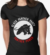 THE BLACK PANTHER PARTY Women's Fitted T-Shirt