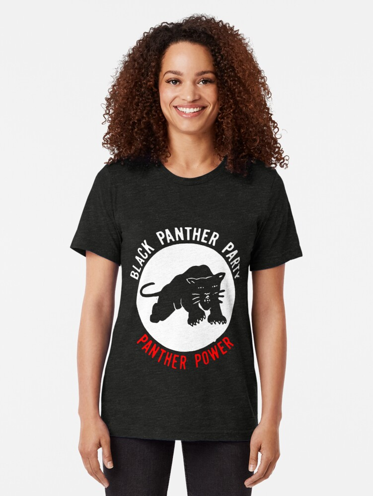 Alternate view of THE BLACK PANTHER PARTY Tri-blend T-Shirt