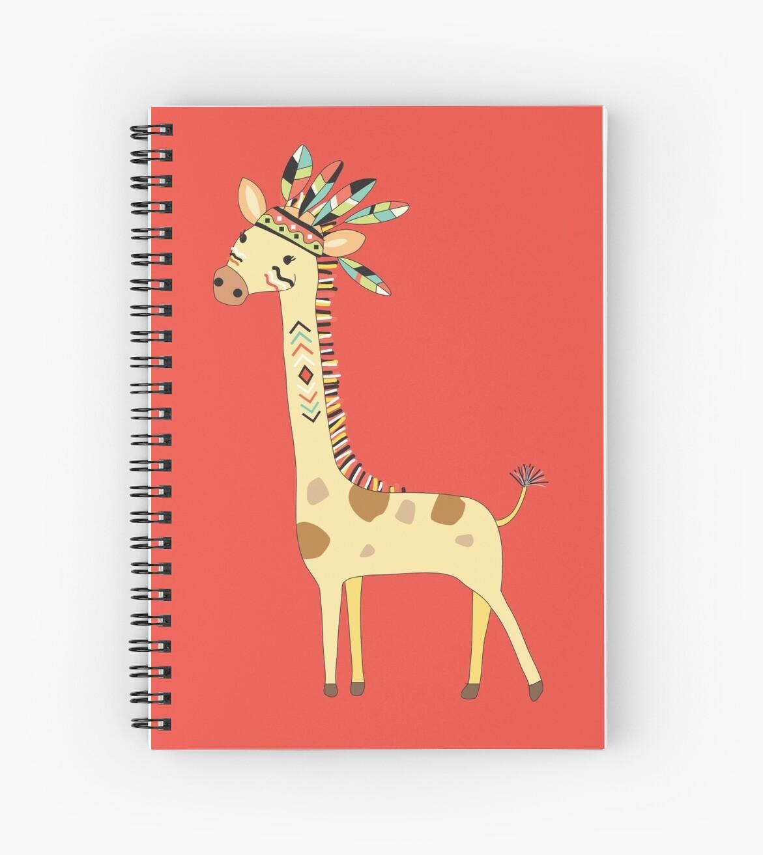 Cuadernos De Espiral Animales De Dibujos Animados Tribal Jirafa De