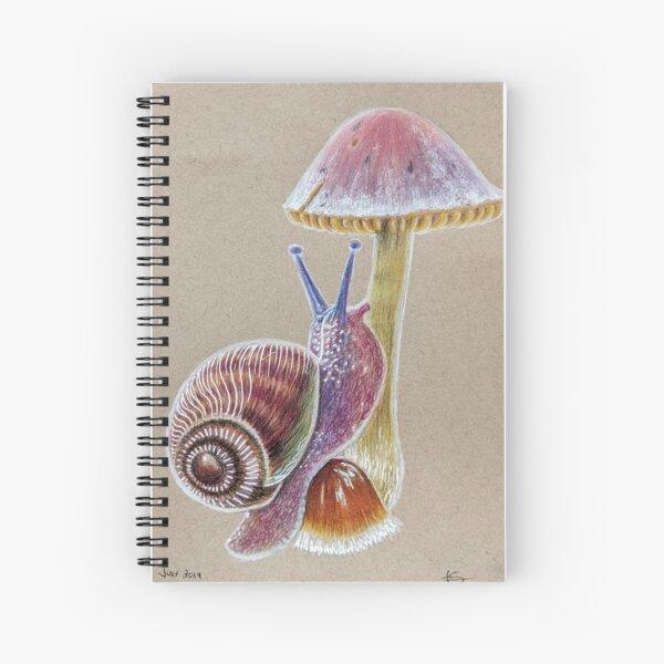 Snail and Mushroom Spiral Notebook
