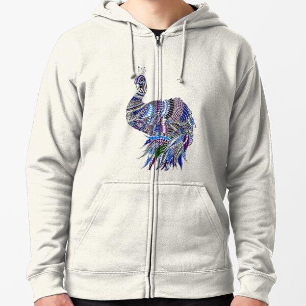 Patterned Pheasant Zipped Hoodie