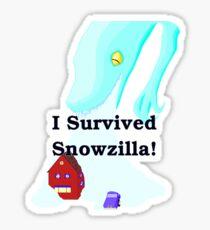 Snowzilla Sticker