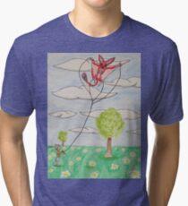 Kite Flying Tri-blend T-Shirt