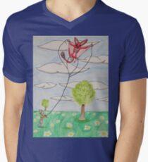 Kite Flying Mens V-Neck T-Shirt