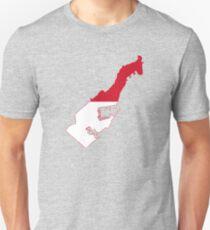 Flag Map of Monaco  T-Shirt