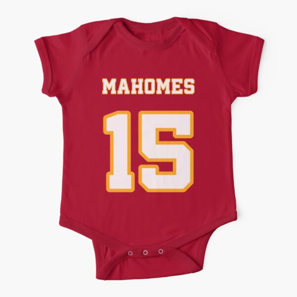 Patrick Mahomes - Kansas City Chiefs Official Short Sleeve Baby One-Piece
