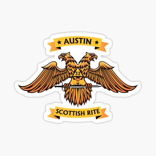 Austin Scottish Rite - golden Sticker