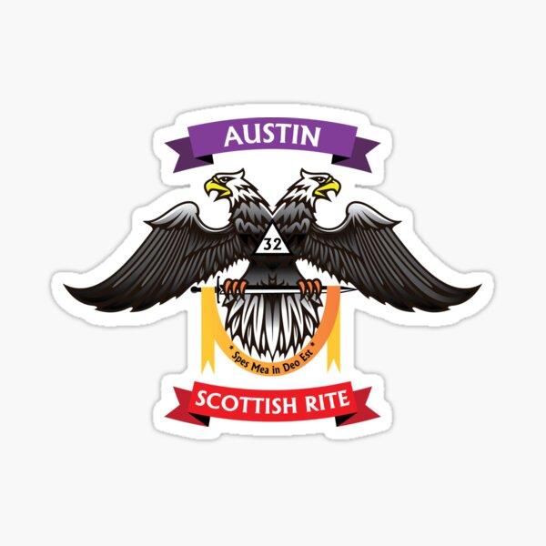 Austin Scottish Rite - color Sticker