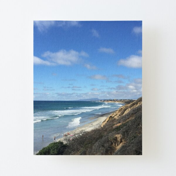 Ocean Surf Canvas Mounted Print