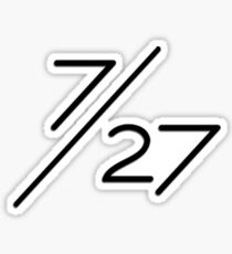7/27 Black Sticker