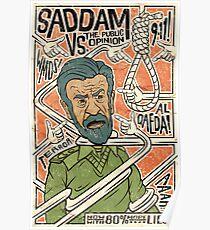 Saddam vs. the Public Opinion Poster