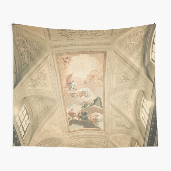 Pastel Dreamy Museum Ceiling Picture Tapestry