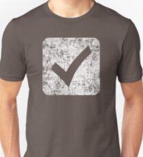 Kontrollkästchen - Weiß Slim Fit T-Shirt