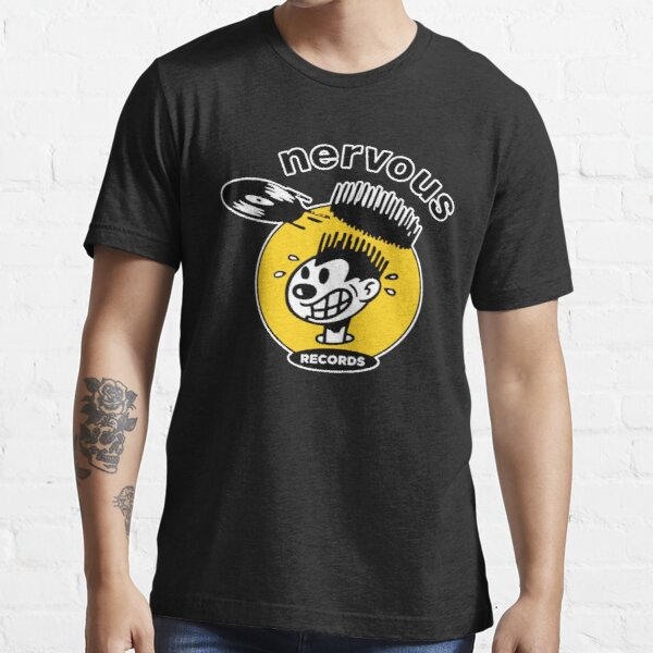 THE NERVOUS RECORDS SHIRT AND STICKER  Essential T-Shirt
