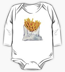 French Fries Pattern One Piece - Long Sleeve