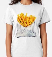 French Fries Pattern Classic T-Shirt