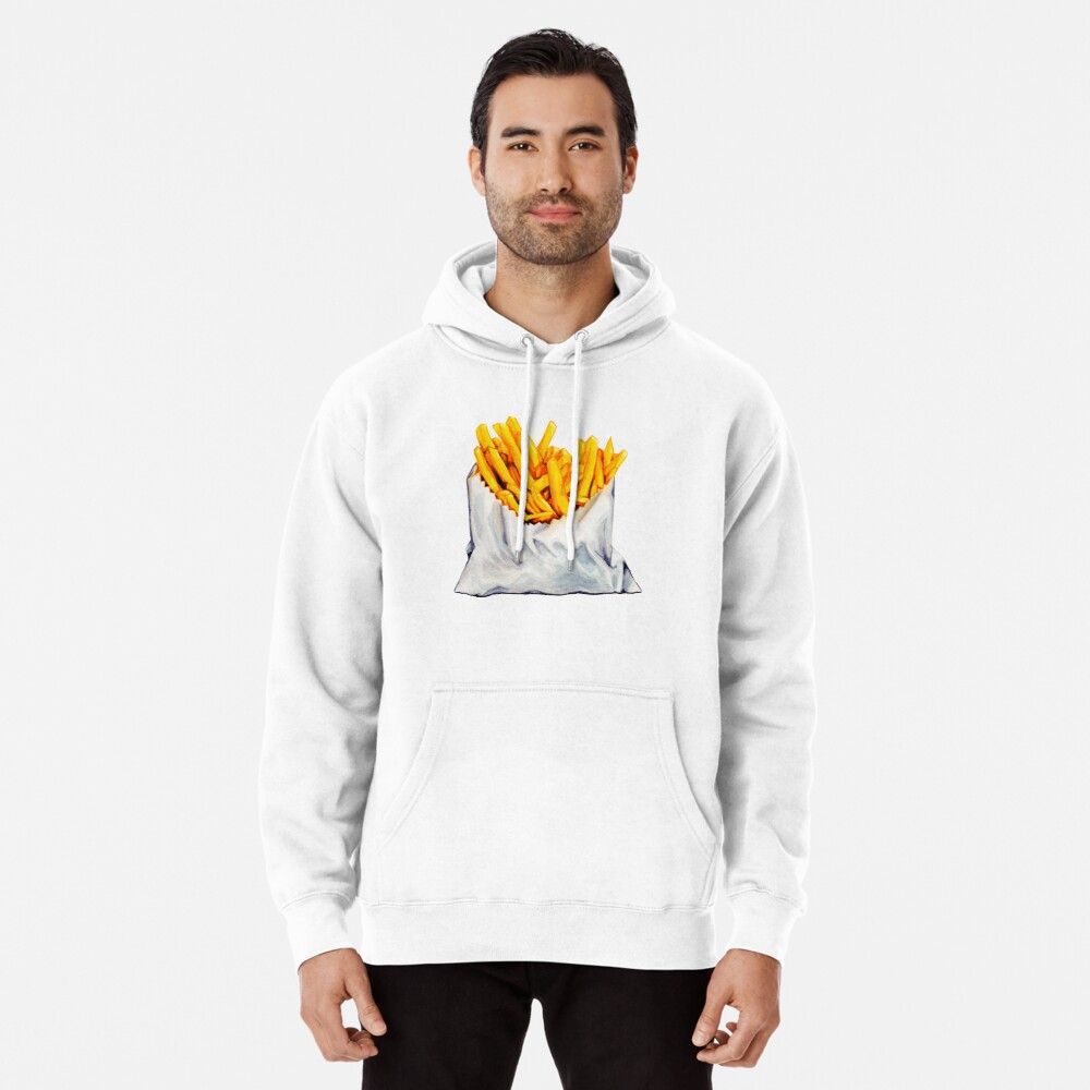 French Fries Pattern Pullover Hoodie