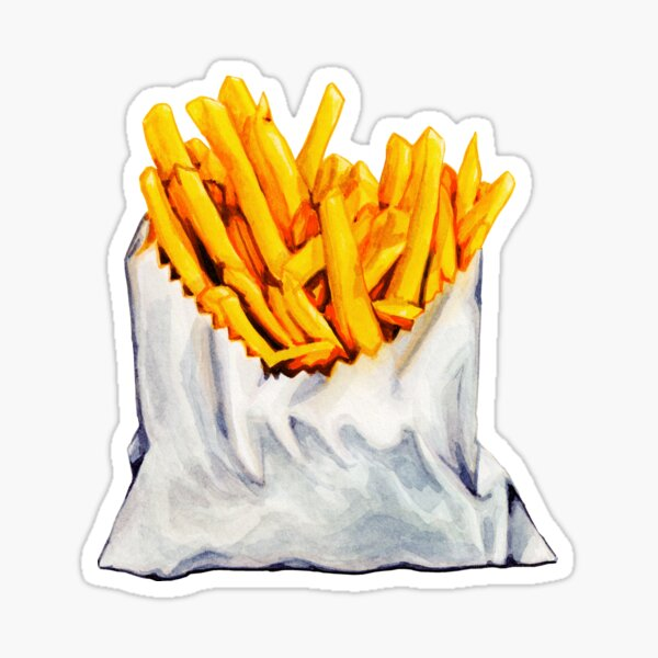 French Fries Pattern Sticker