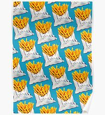 French Fries Pattern Poster