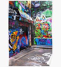 Hosier Lane Graffiti 3 Poster