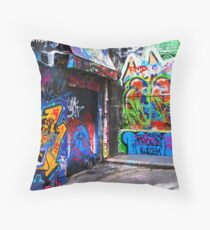 Hosier Lane Graffiti 3 Throw Pillow