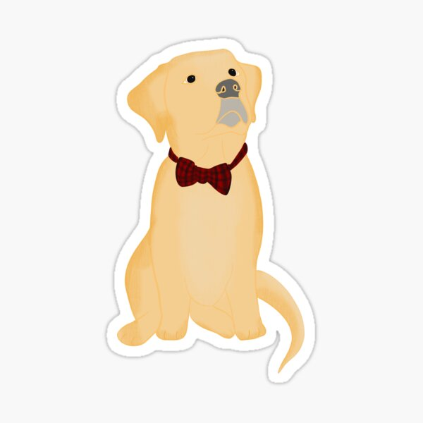 Yellow Labrador Puppy In Bow Tie  Sticker