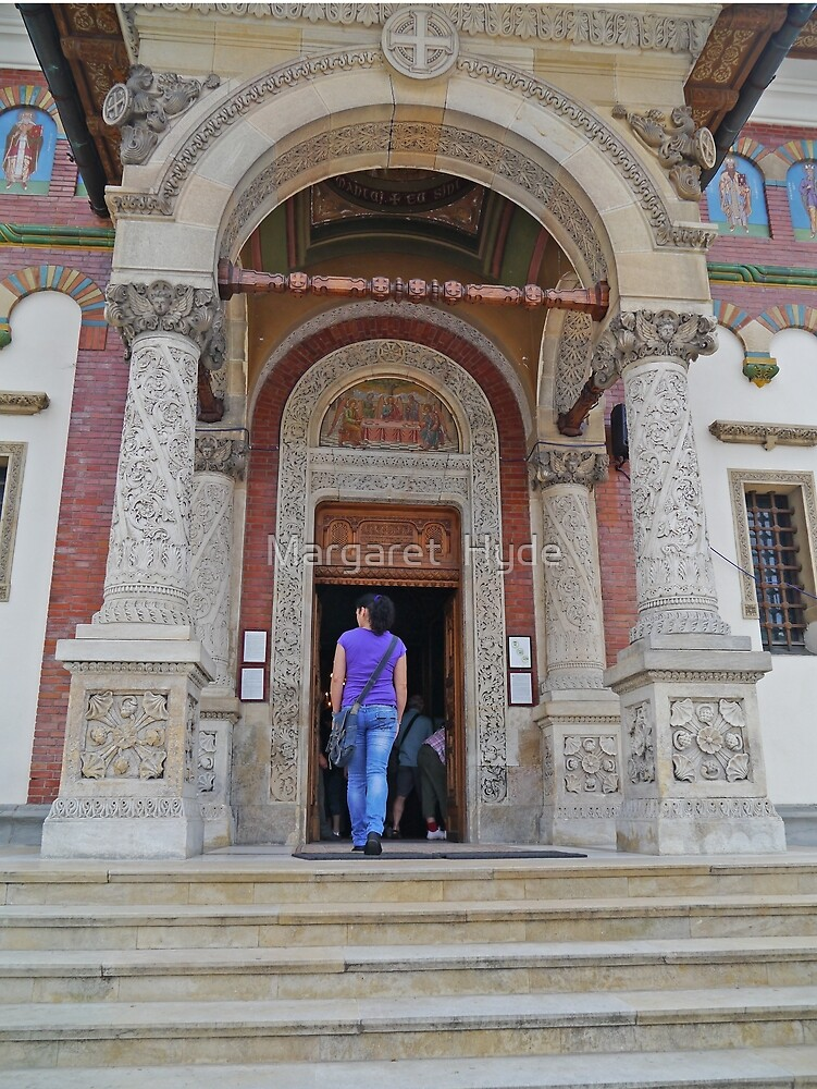 Entrance, The Great Church of the Monastery, Sinaia, Romania by Margaret  Hyde