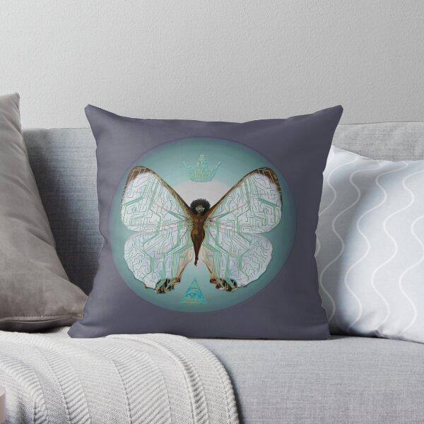 Pearl Morpho Throw Pillow